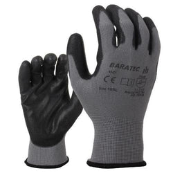 12 x Baratec Protective Nitrile Coated Grip Glove with Elactic Wrist