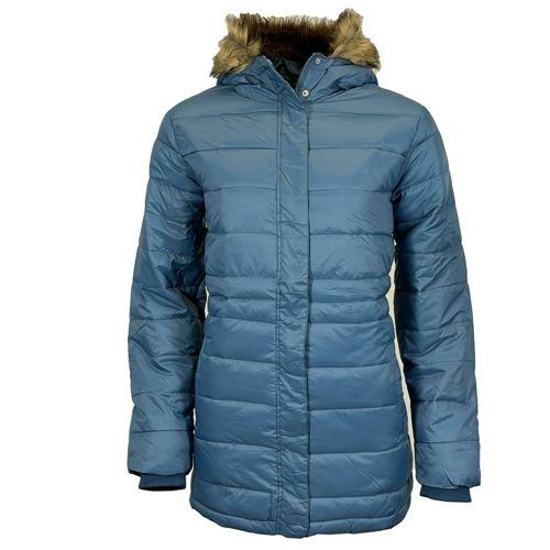 Womens Long Faux Fur Padded Parka Coat