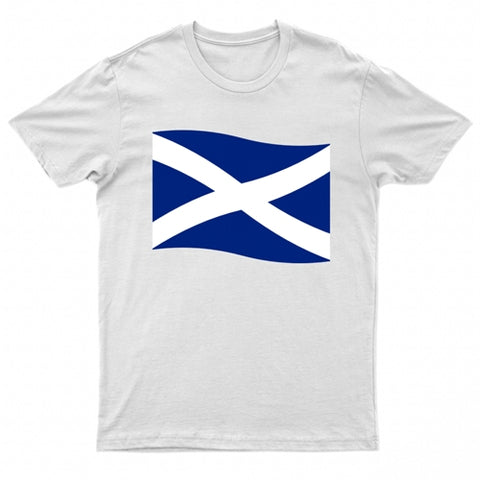 Adults Scottish Flag Printed Short Sleeve T-Shirt