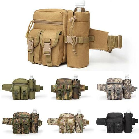 Tactical Waist Bag With Water Bottle Attachment