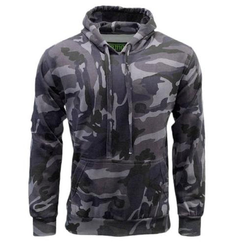 Mens GAME Camouflage Fleece Hoodie - Midnight