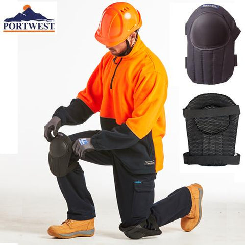 Portwest Workwear KP20 Strapped Knee Pad - Black