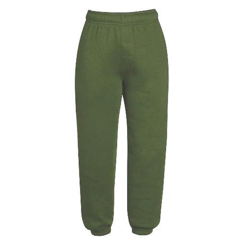 Kids Urban Road Plain Joggers - Military Green