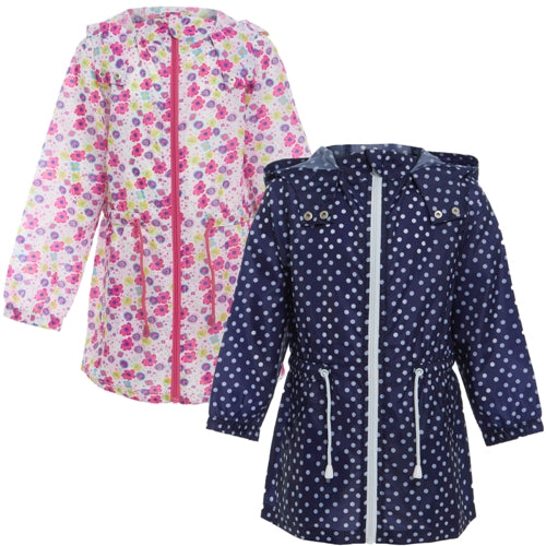 Kids Girls Rebecca Showerproof Kagool Parka Rain Jacket