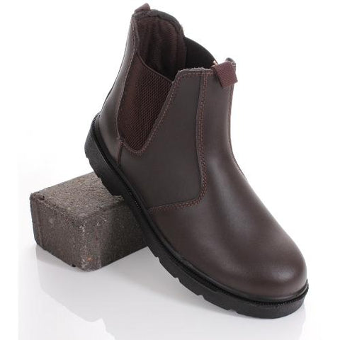 Blackrock Dealer Steel Toe Cap Ankle High Elastic Work Boot - Brown