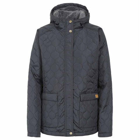 Ladies Trespass Tempted Quilted Coat - Black