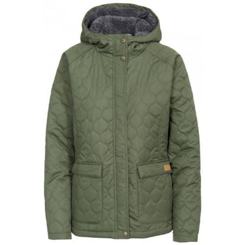 Ladies Trespass Tempted Quilted Coat - Moss