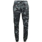 Game Mens Camouflage Joggers in Midnight