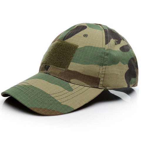 3 Patch Tactical Operators Baseball Cap - Woodland