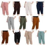 Ladies Linen Cropped Trousers