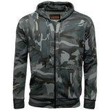 Game Mens Camouflage Zipper Midnight