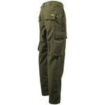 Game EN302 Stealth Waterproof Trousers Hunters Green Side