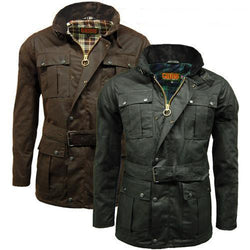 Game Mens Continental Motorcycle Wax Jacket Gallery