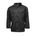 Game Mens Unpadded Wax Jacket Black