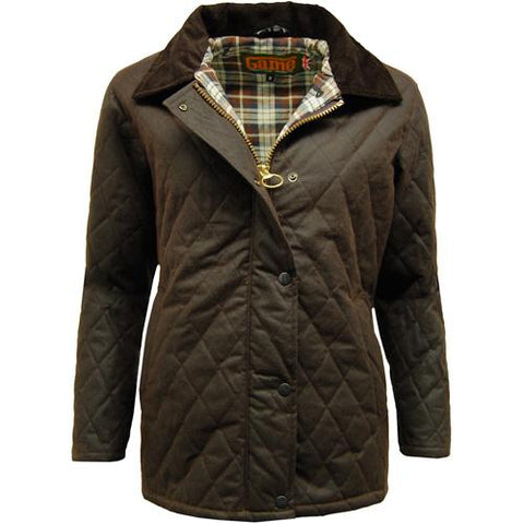 Game Ladies Zara Quilted Wax Jacket Brown