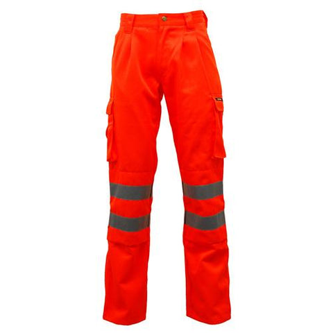 Hi Vis Polycotton Trousers Orange
