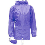 Kids Unisex Showerproof Jacket - Purple