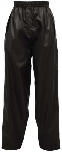 Kids Regatta Stormbreak Waterproof Overtrousers in Black