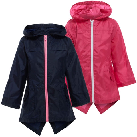 Kids Girls Lola Showerproof Kagool Fishtail Rain Jacket