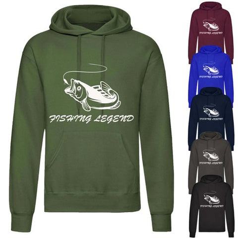Adults Carp Fishing Logo Printed Hoodie