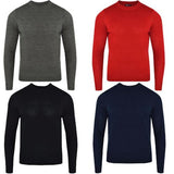 Mens L17-110 Plain Crew Neck Jumper Gallery