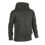 Plain Fleece Zipper Charcoal
