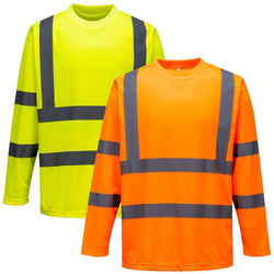 Portwest S178 Hi Vis Long Sleeved Crew Neck T-Shirt