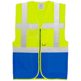 Yoko Executive Vest Yellow/blue