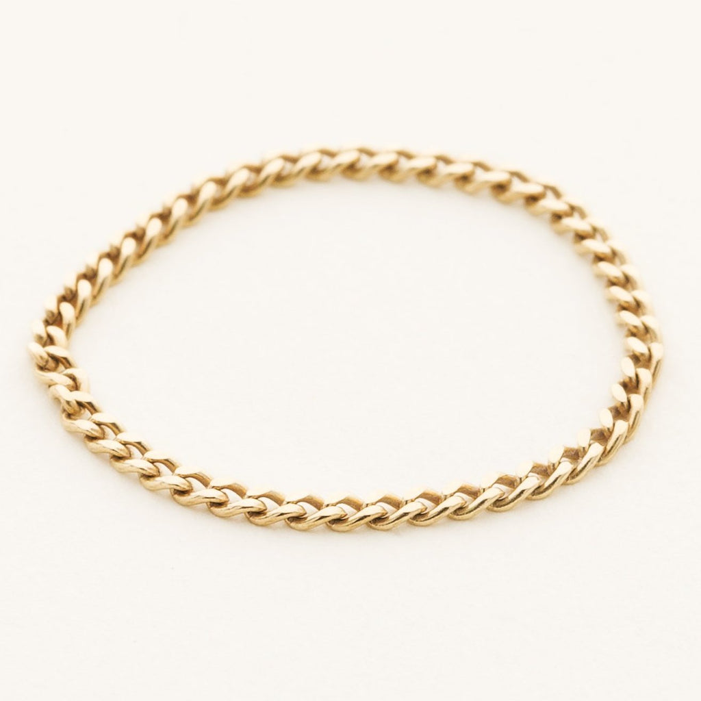 MINI CHAIN RING - 18 karat gold