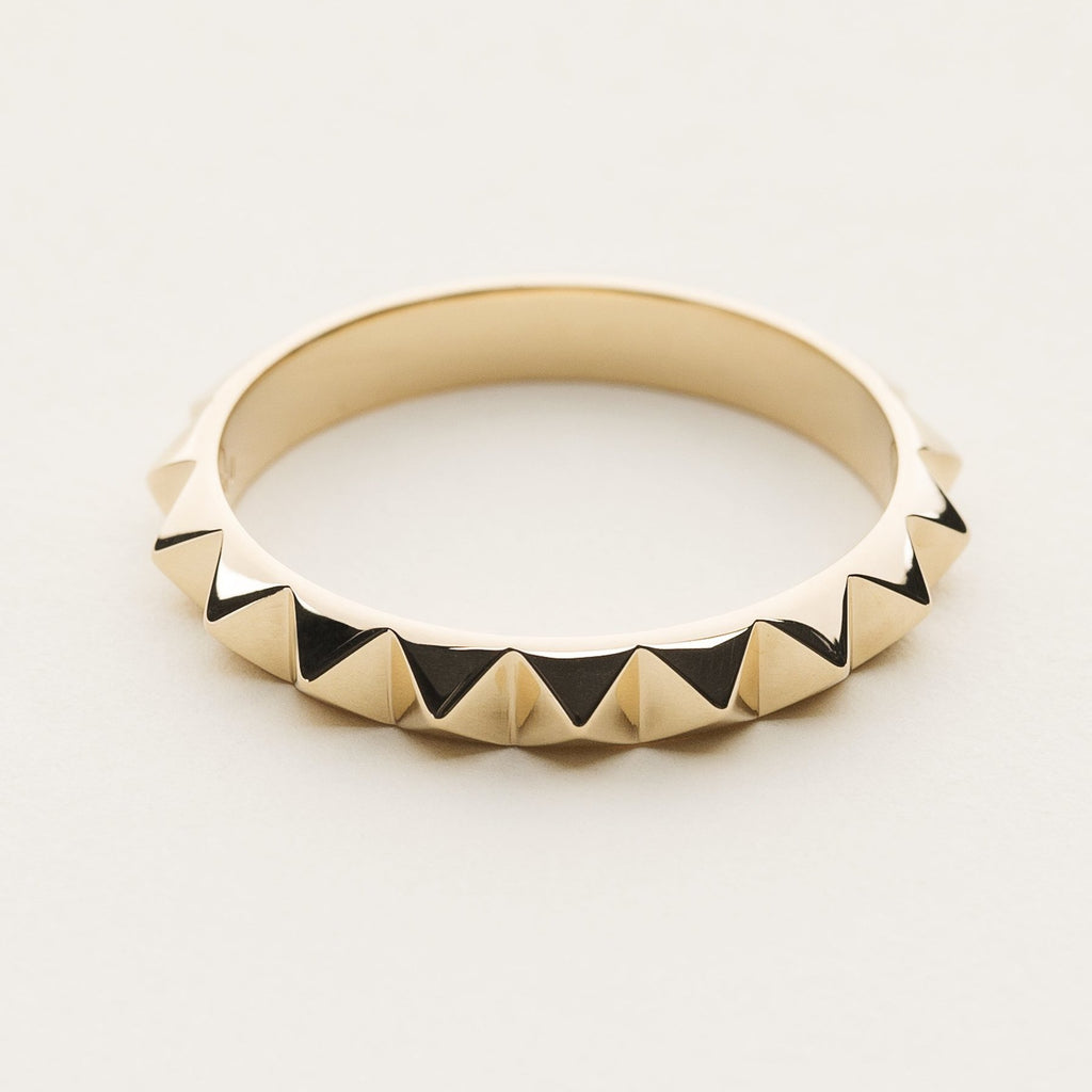 MINI STUD RING - gold plated silver