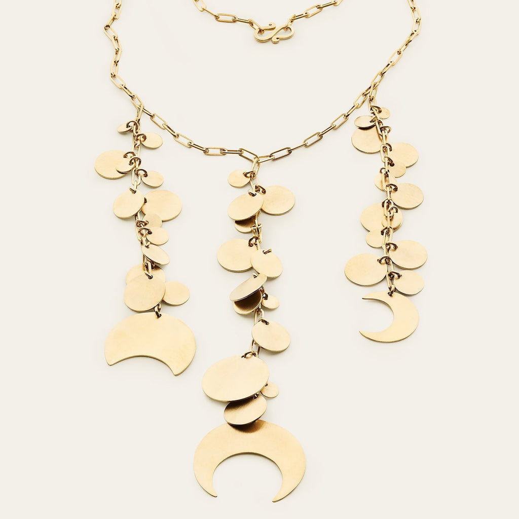 NEW MOON NECKLACE - gold plated silver