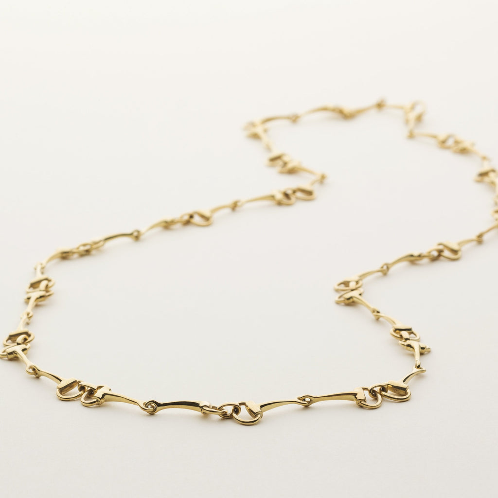 HORSEBIT NECKLACE - gold plated silver