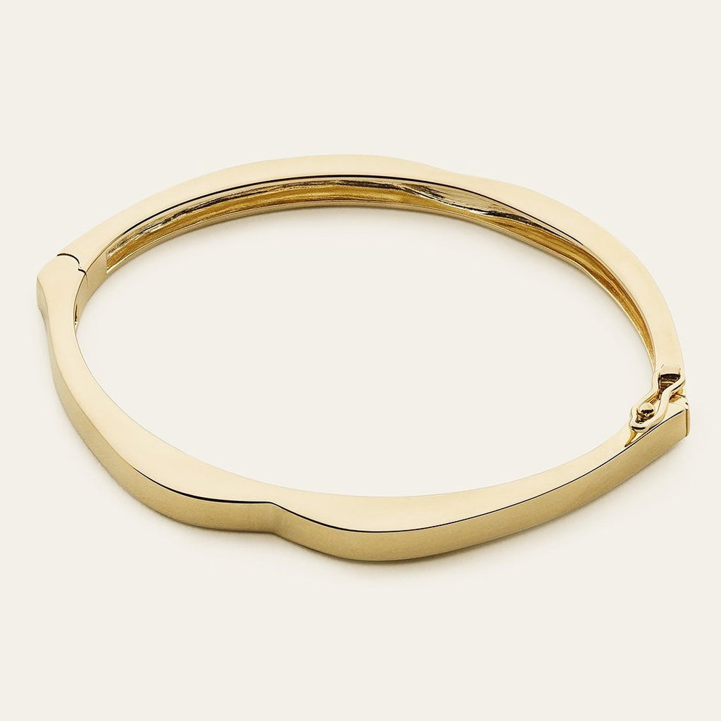 MOUTH BANGLE - gold plated silver