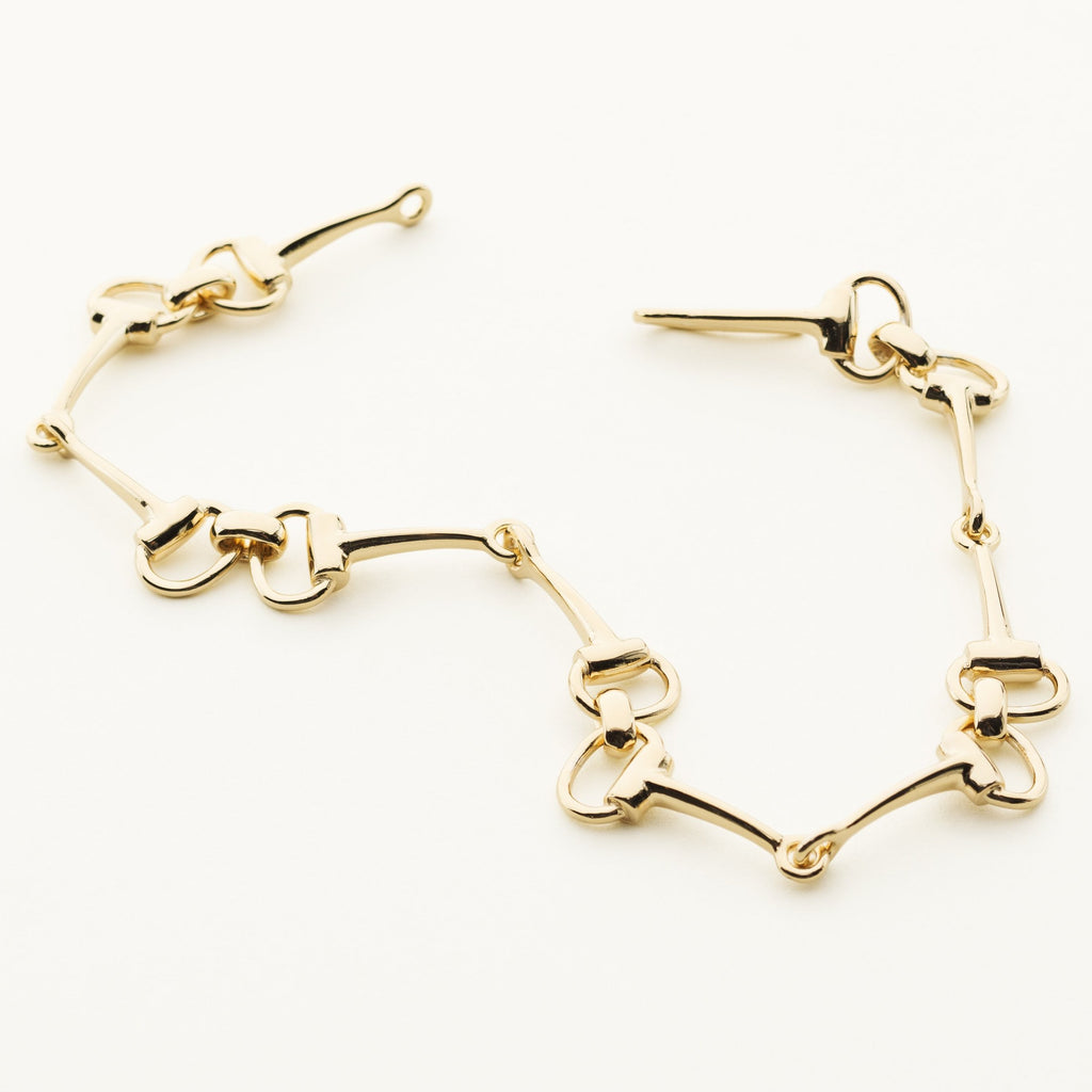 HORSEBIT BRACELET - gold plated silver