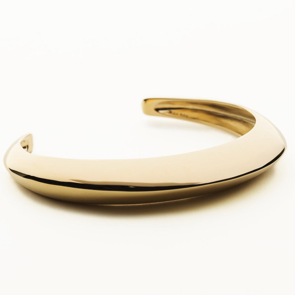 MASAI BANGLE - gold plated silver