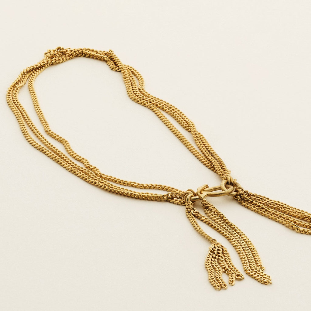 IN CHAIN ANKLE BRACELET - gold plated silver