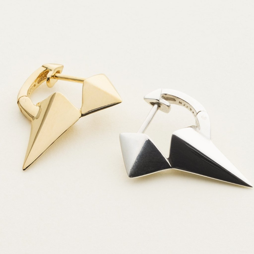 LONG STUD EARRING - gold plated silver