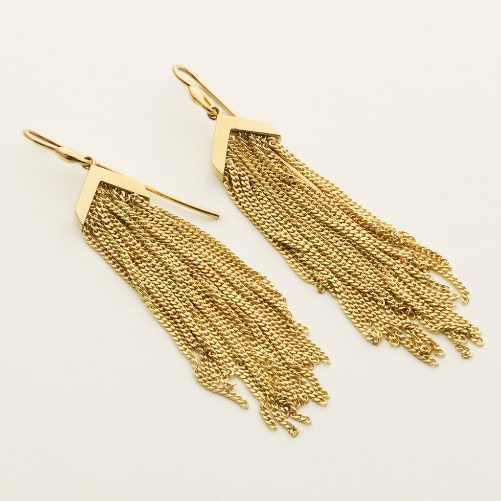 FRINGE EARRINGS - gold plated silver