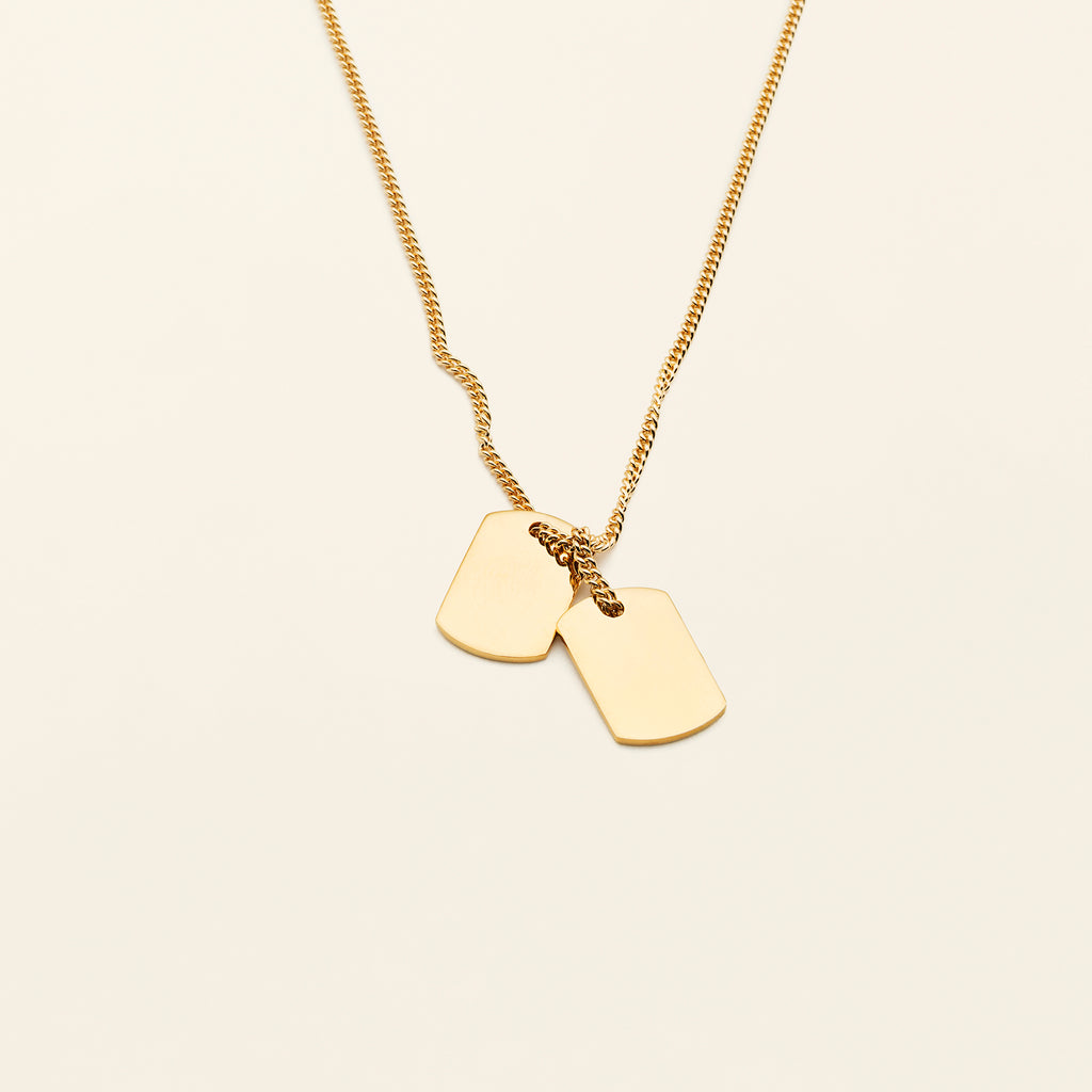 SMALL TAG NECKLACE - goldplated silver