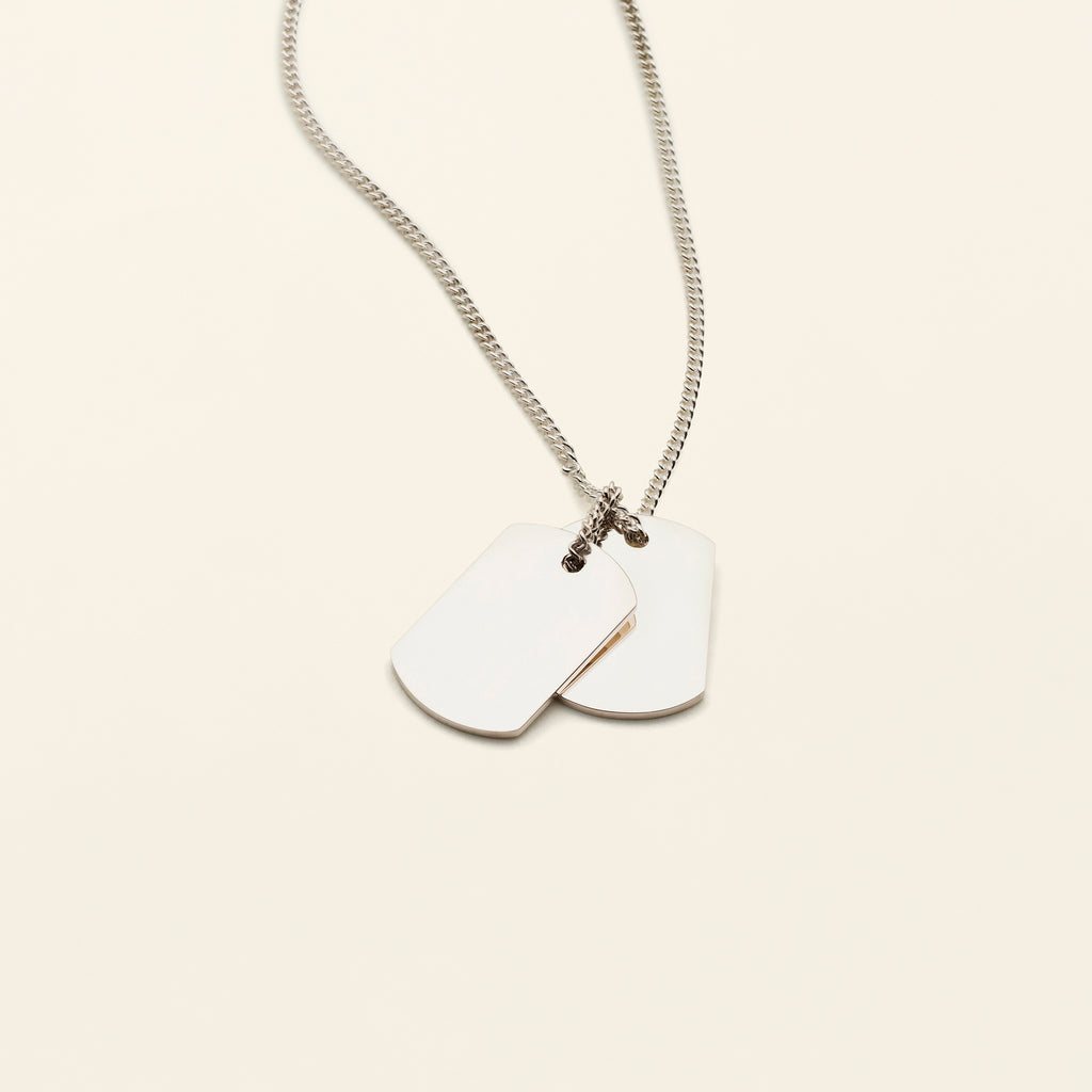 LARGE TAG NECKLACE - silver