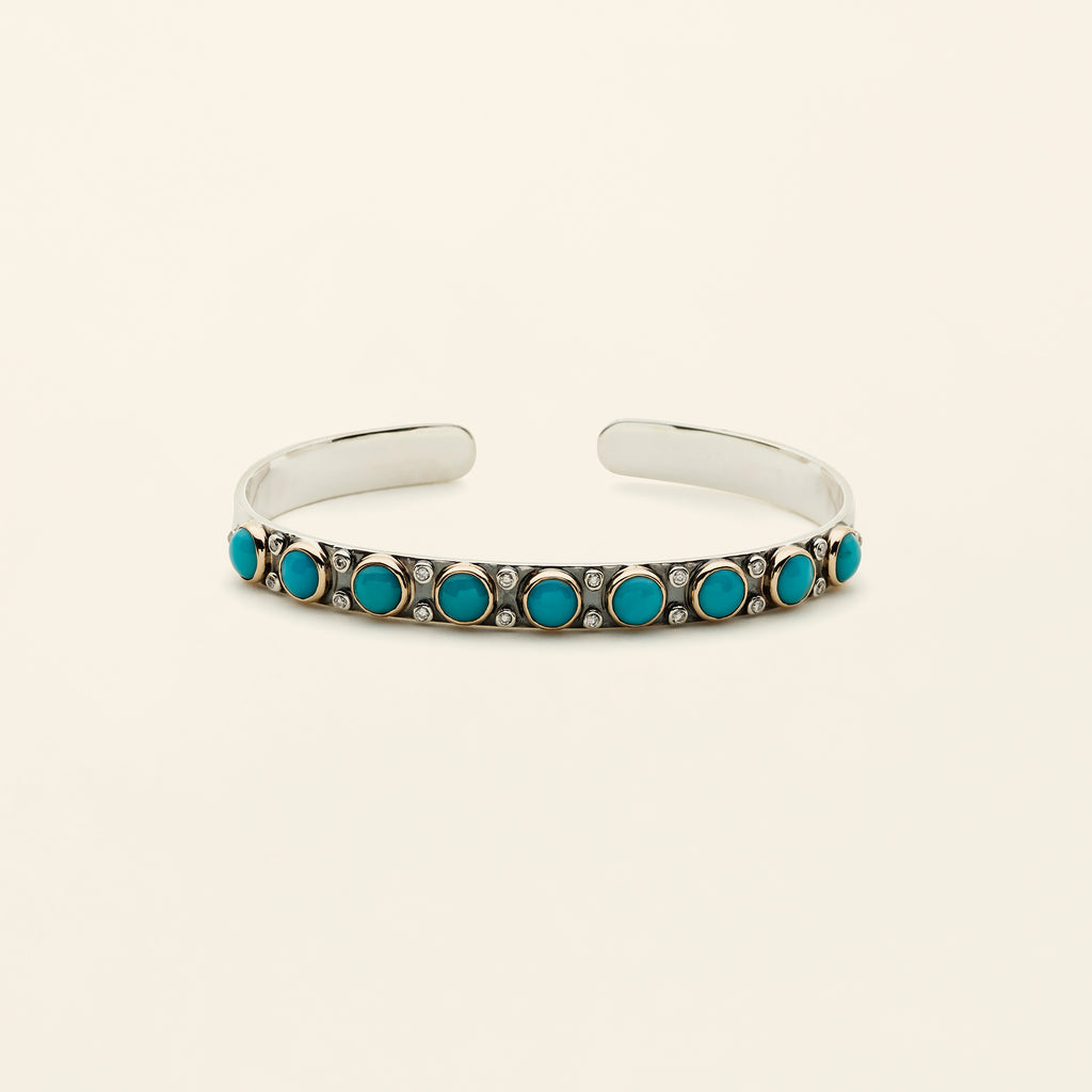 TURQUOISE CUFF - silver