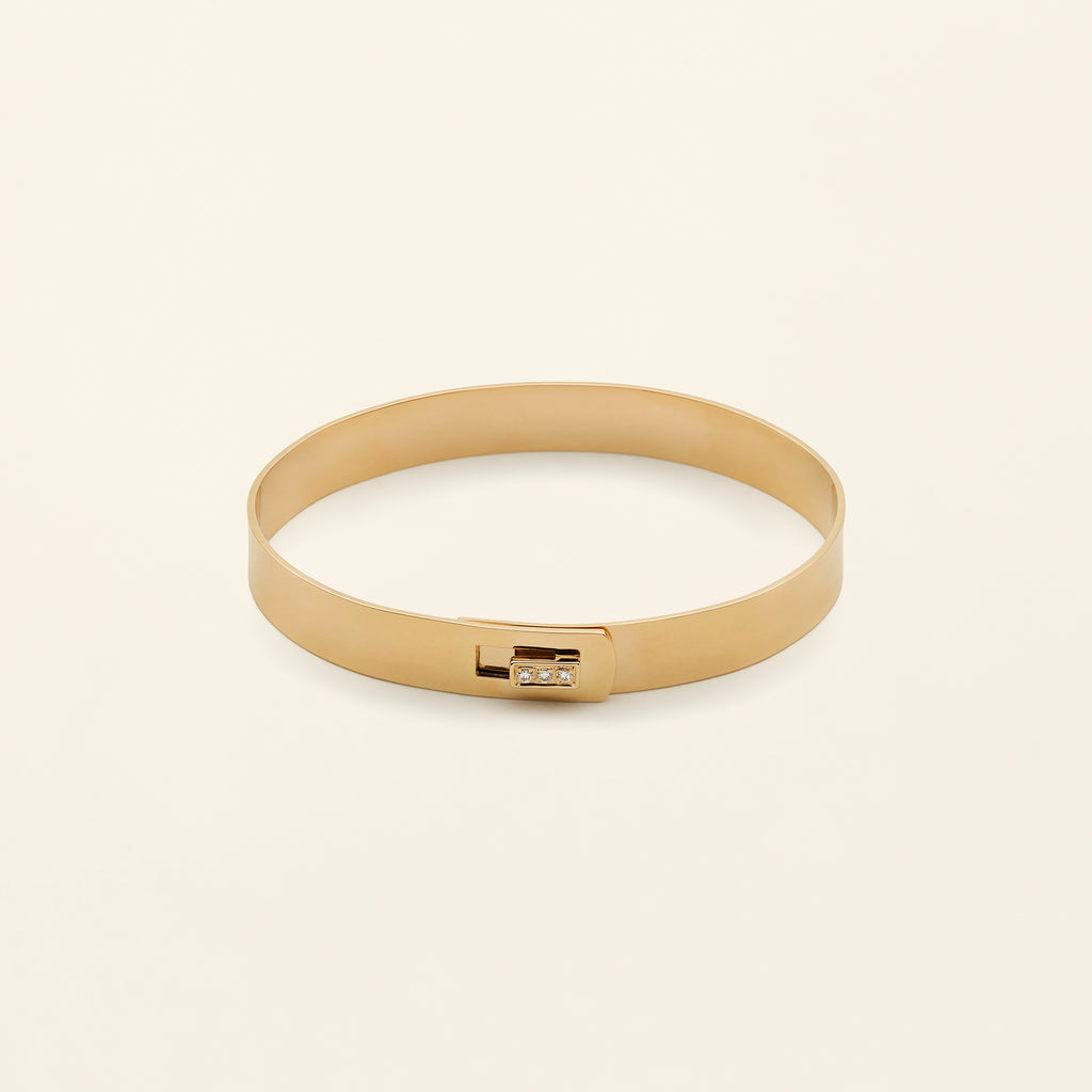 CLICK BRACELET - 18k gold with diamonds