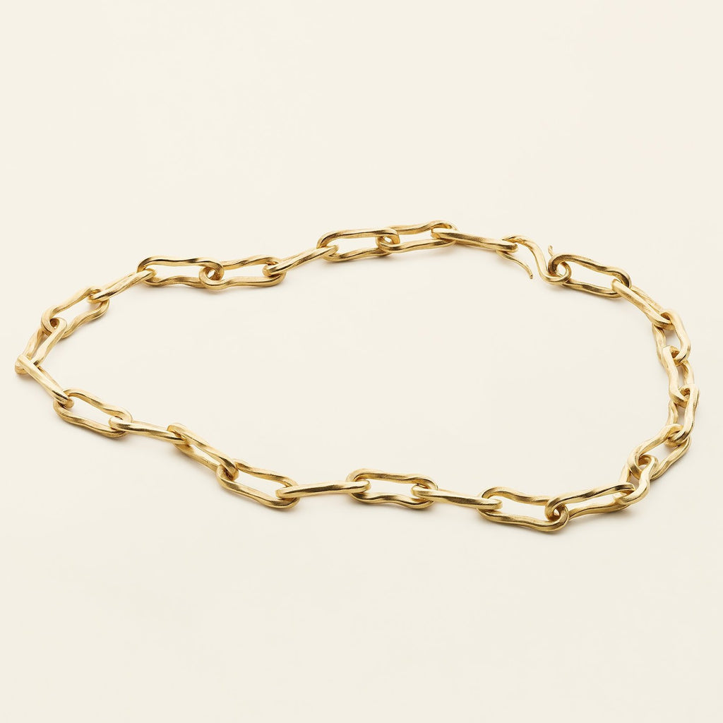LARGE FLOW NECKLACE - gold plated silver