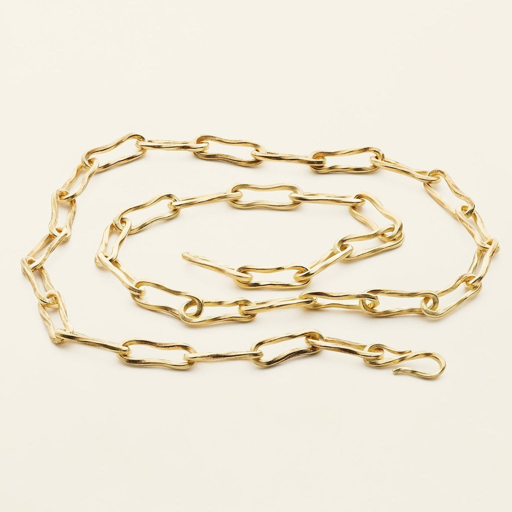 FLOW MEDIUM NECKLACE - gold plated silver