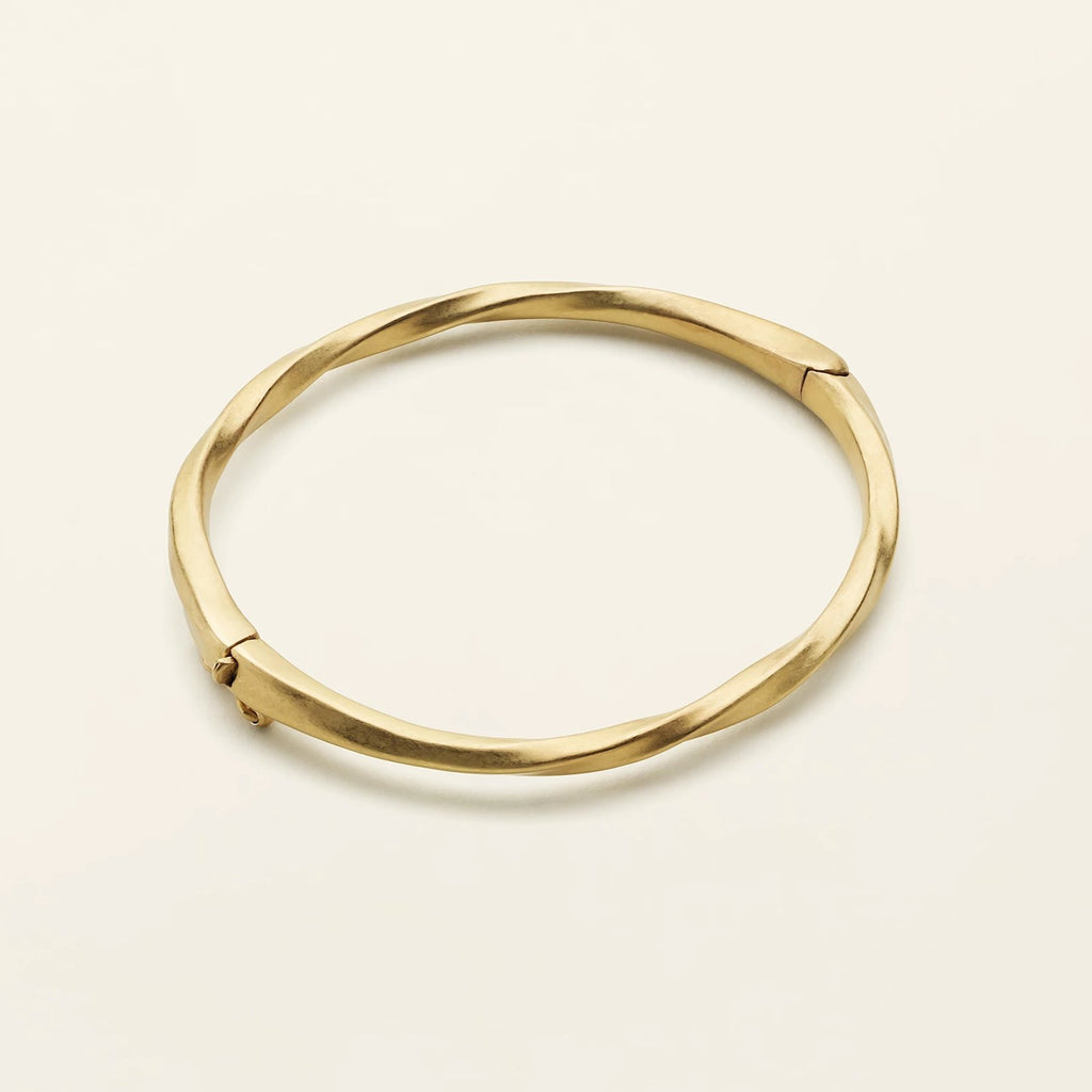 FLOW BANGLE - gold plated silver