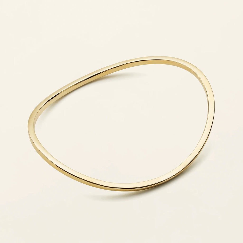 CLASSIC WAVE BANGLE - gold plated silver