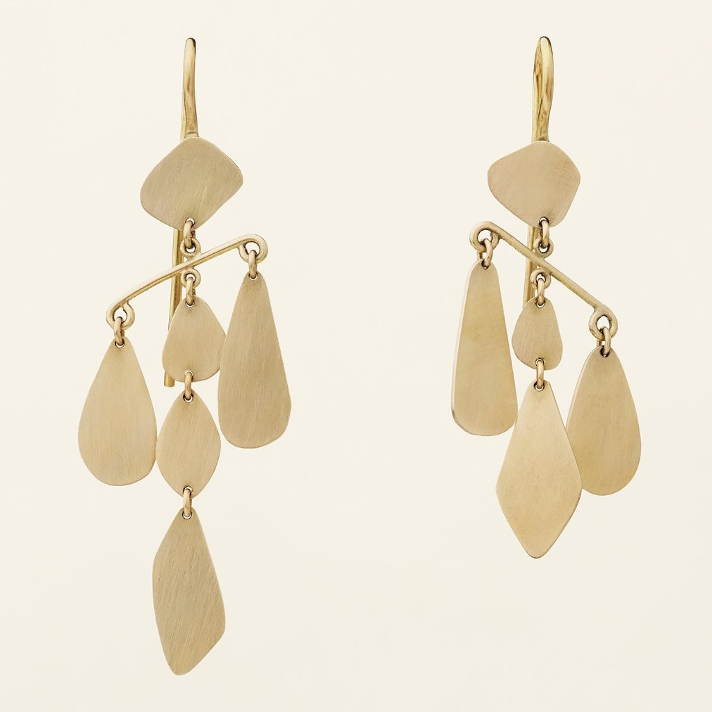 LONG MOBILE EARRINGS - gold plated silver