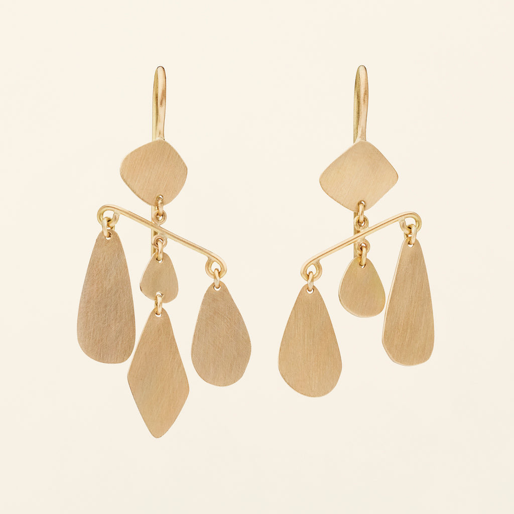 MOBILE EARRINGS - gold plated silver
