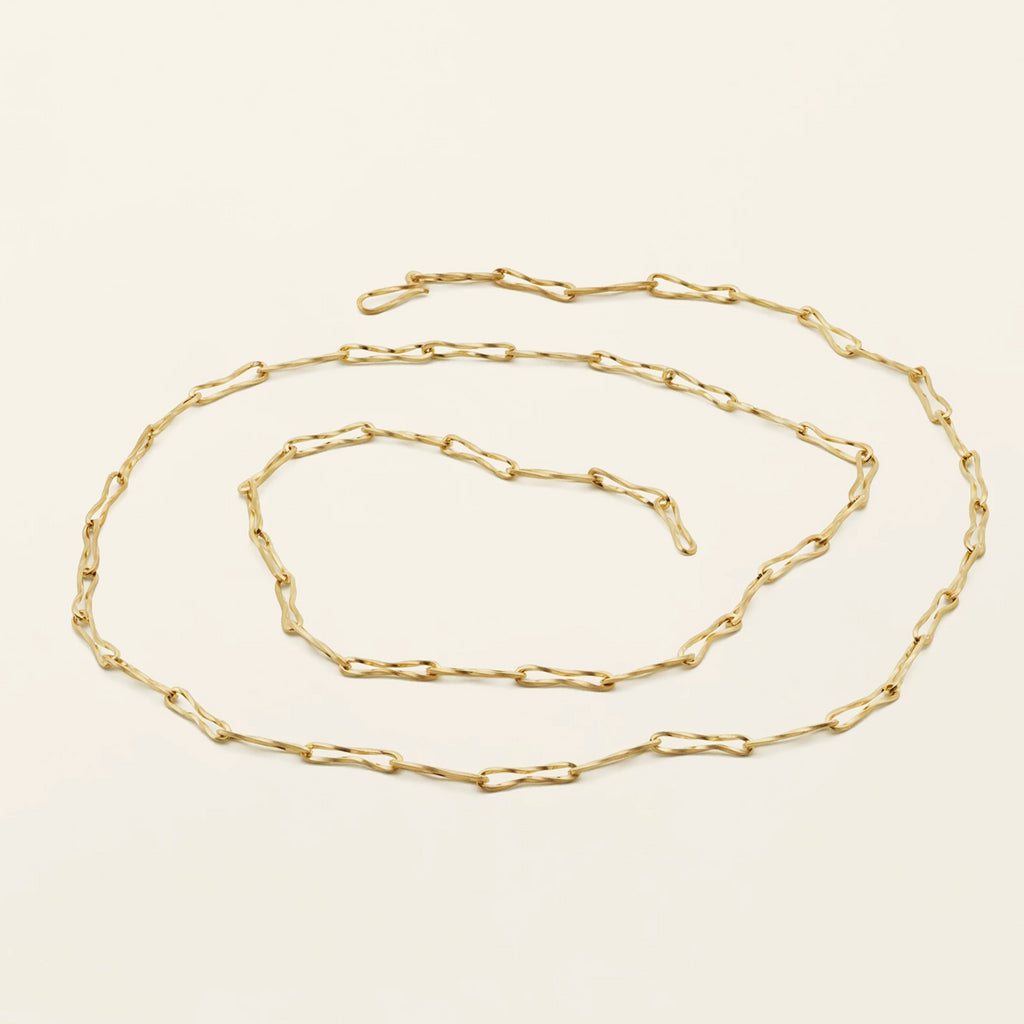 FLOW THIN NECKLACE - gold plated silver