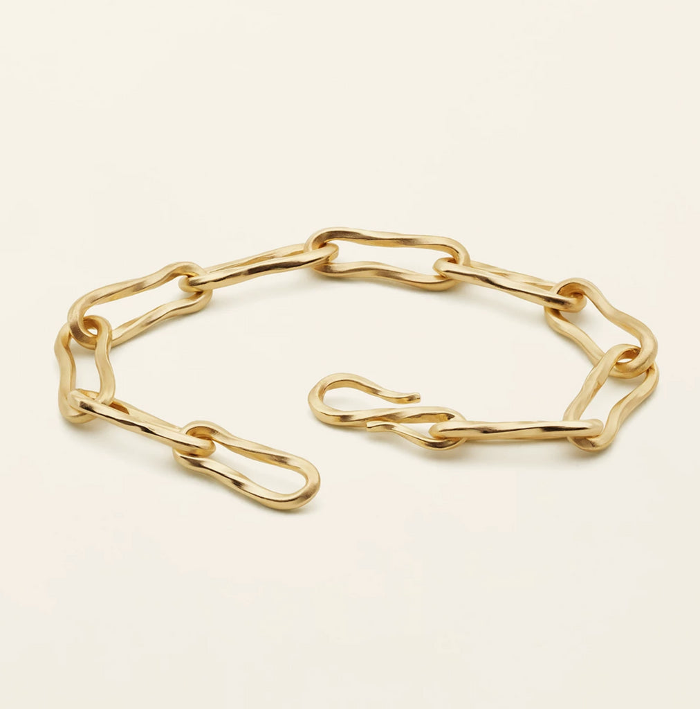 FLOW MEDIUM BRACELET - gold plated silver